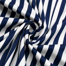 Палаточная ткань  сине-белая полоска